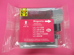 Brother LC980M cartouche d'encre magenta  (Compatible)